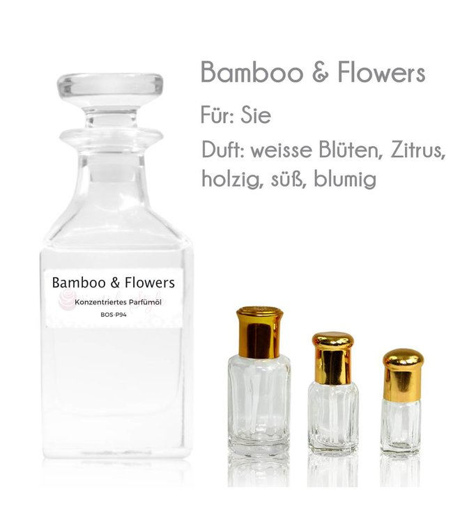 Concentrated perfume oil Bamboo & Flowers Perfume Free From alcohol