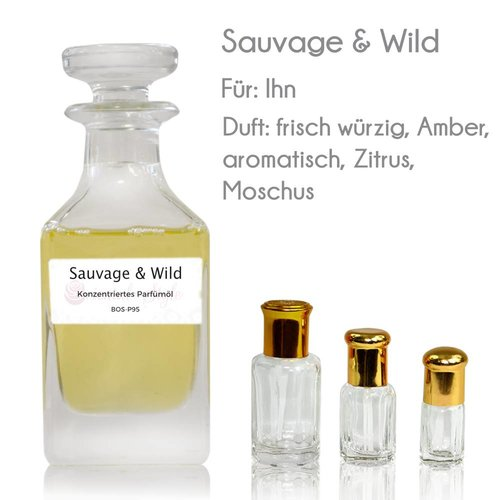 Oriental-Style Perfume Oil Sauvage & Wild