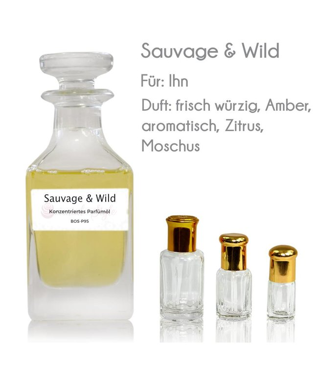 Concentrated perfume oil Sauvage & Wild Perfume Free From alcohol