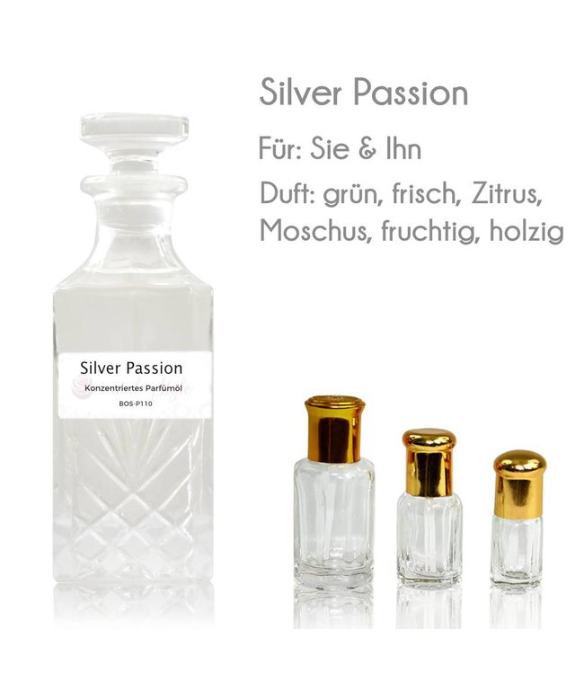 Concentrated perfume oil Silver Passion Perfume Free From alcohol