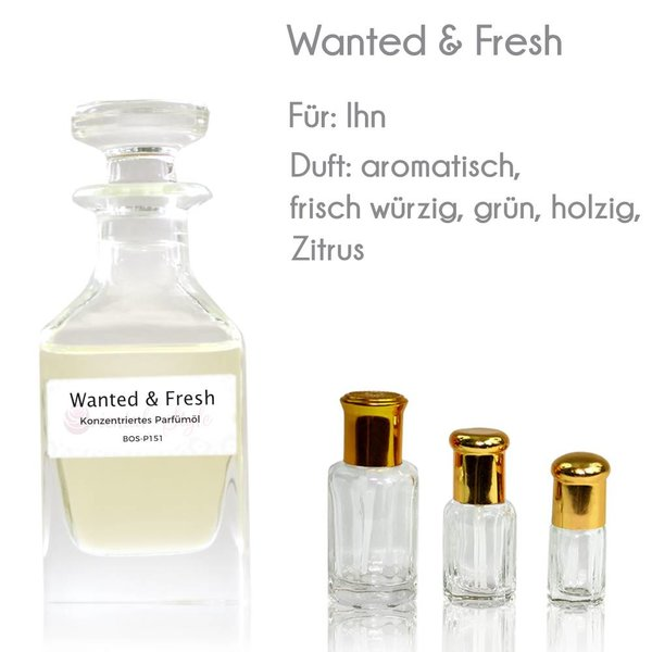 Oriental-Style Concentrated perfume oil Wanted & Fresh Perfume Free From alcohol
