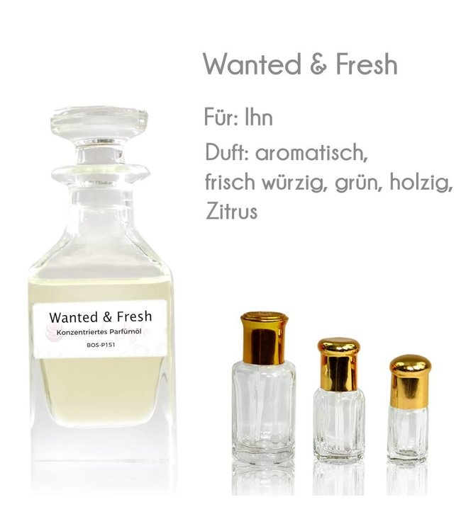 Concentrated perfume oil Wanted & Fresh Perfume Free From alcohol