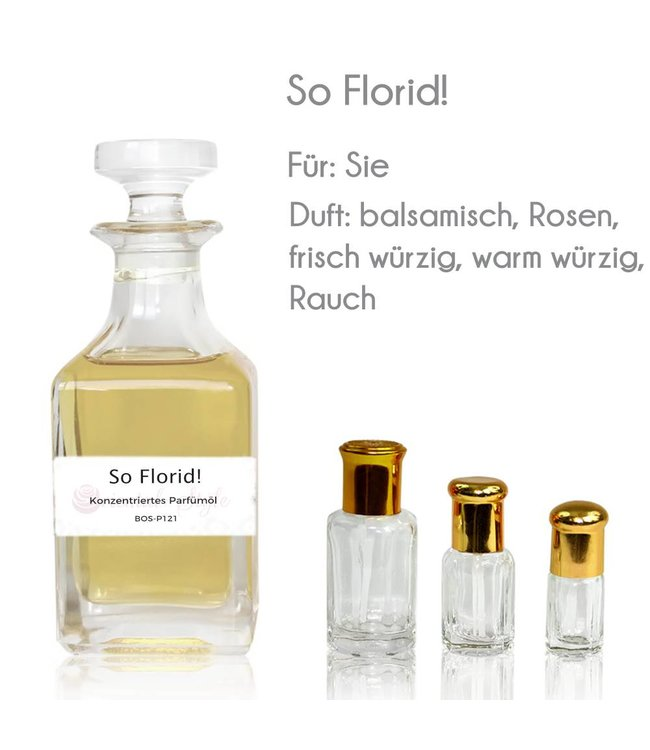 Concentrated perfume oil So Florid! Perfume Free From alcohol