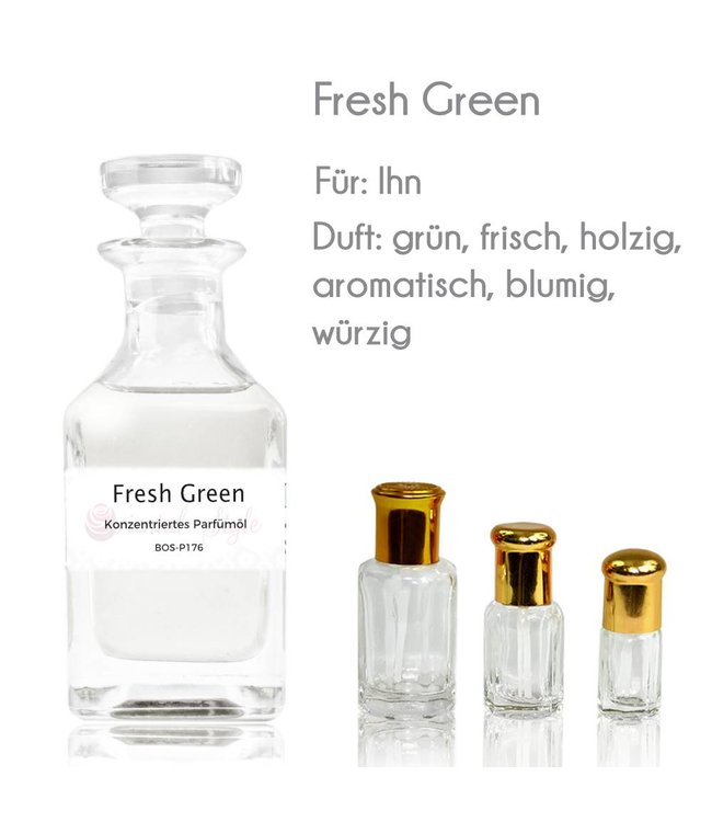 Concentrated perfume oil Fresh Green Perfume Free From alcohol