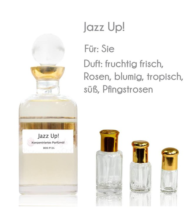 Concentrated perfume oil Jazz Up!  Perfume Free From alcohol