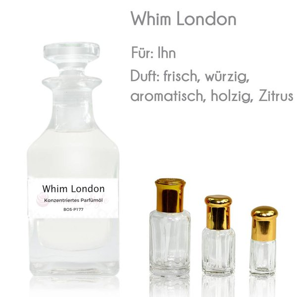 Oriental-Style Whim London Parfümöl - Attar Parfüm ohne Alkohol