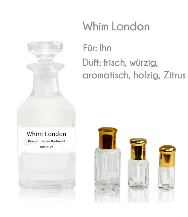 Concentrated perfume oil Whim London Perfume Free From alcohol