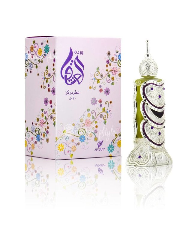 Afnan Concentrated Perfume Oil Wardat Al Ushaq  - Perfume free from alcohol