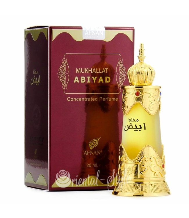 Afnan Concentrated Perfume Oil Mukhallat Abiyad - Perfume free from alcohol