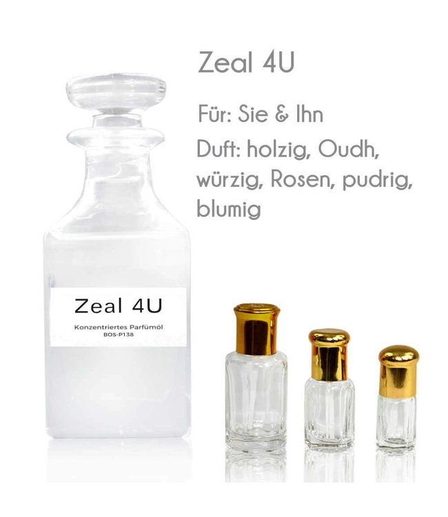 Concentrated perfume oil Zeal 4U Perfume Free From alcohol