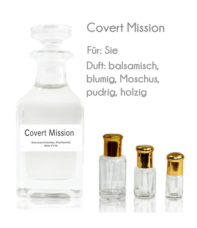 Concentrated perfume oil Covert Mission Perfume Free From Alcohol