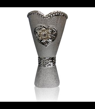 Mubkara - Large Incense Burner Ceramics in Silver Colour