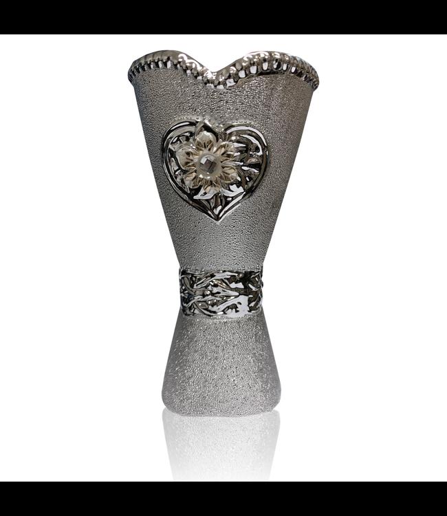 Mubkara - Räuchergefäß Keramik für Räuchern mit Bakhour Silber