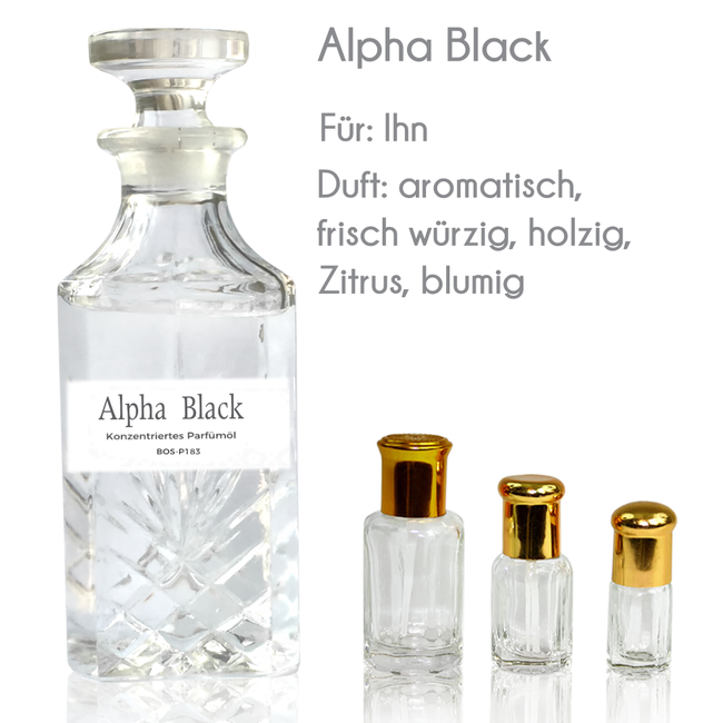 Sultan Essancy Perfume Oil Alpha Black