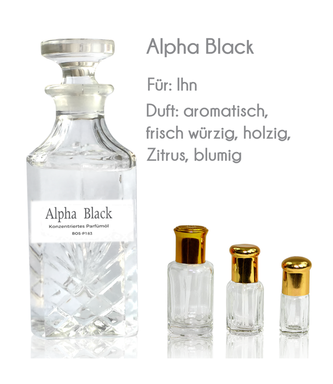 Sultan Essancy Concentrated perfume oil Alpha Black Perfume Free From Alcohol