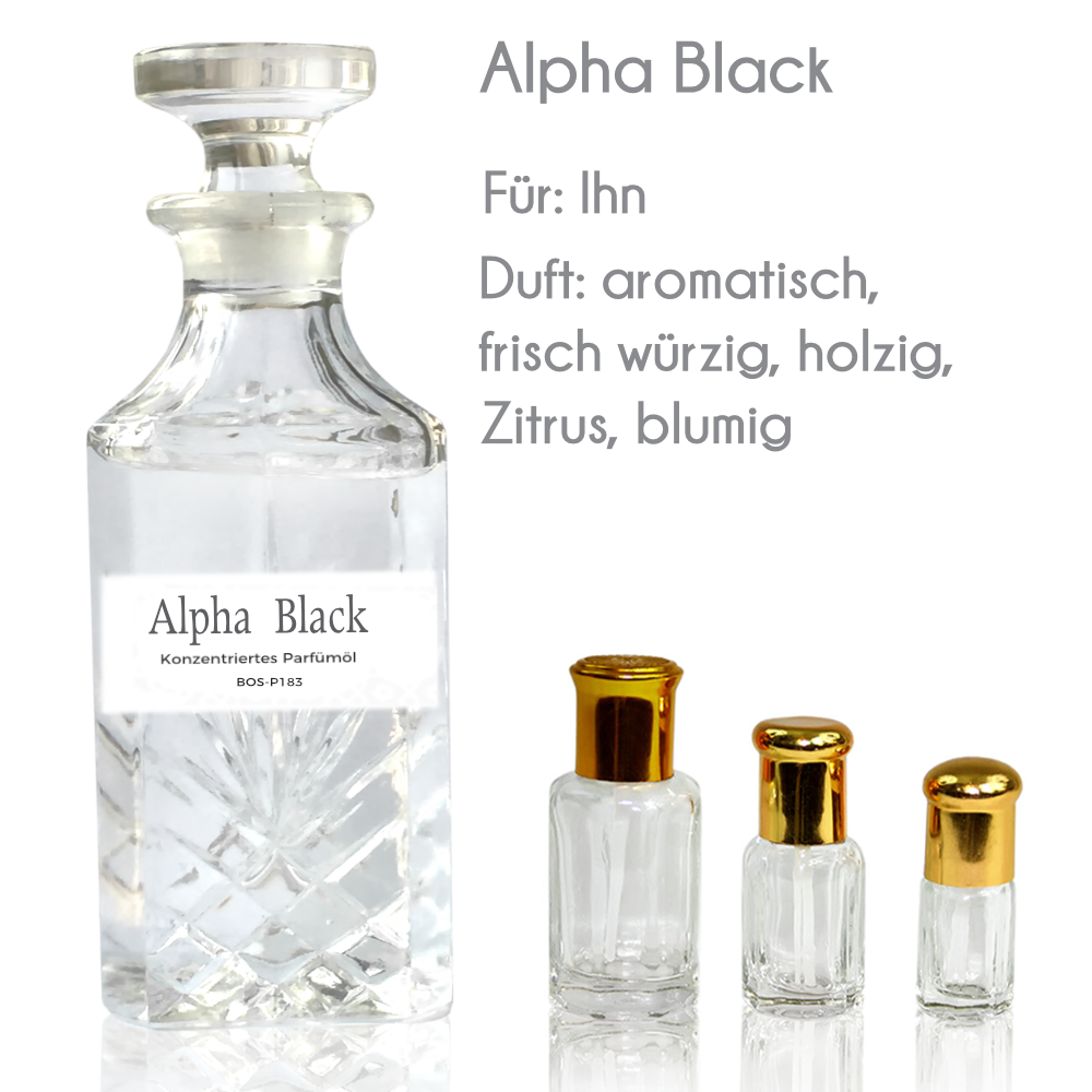 Parfümöl Alpha Black für Herren