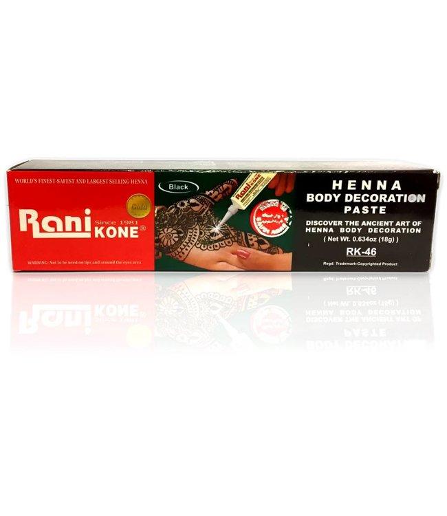 Rani - Kone Henna-Paste für Hennatattoos Schwarz (18g)