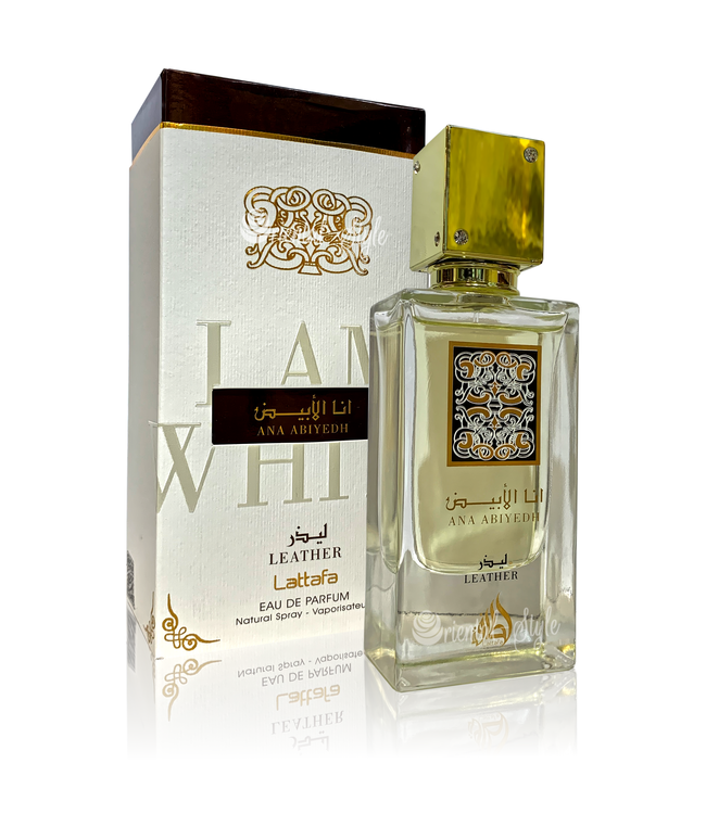 Lattafa Perfumes Perfume Ana Abiyedh Leather Eau de Parfum 60ml Perfume Spray