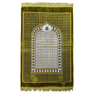 Gebetsteppich mit Kompass - Grün