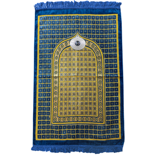 Prayer Mat with Compass - Blue