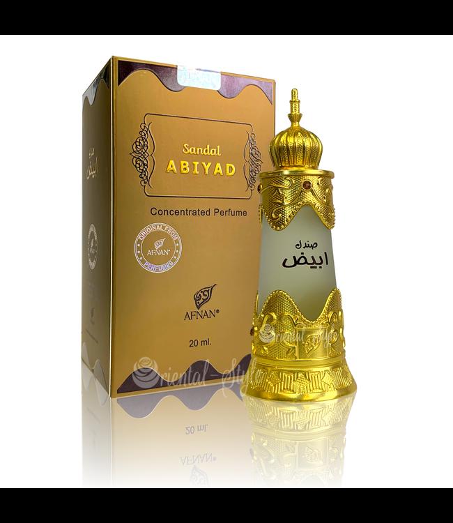 Afnan Konzentriertes Parfümöl Sandal Abiyad - Parfüm ohne Alkohol