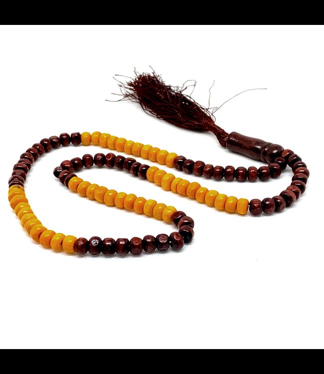 Misbaha Tasbih Prayer Beads - Wooden Round