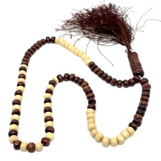 Tasbih Gebetskette - Holz Rund