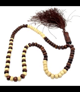 Tasbih prayer beads - Wooden Round