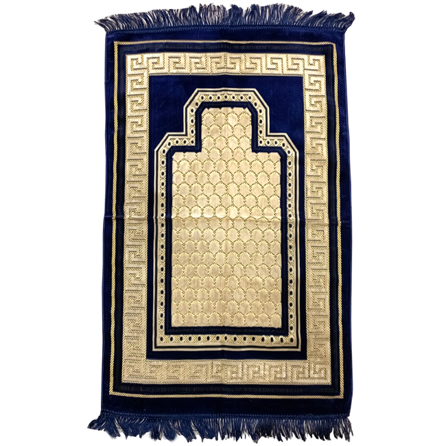 Prayer Mat Seccade in Dark Blue