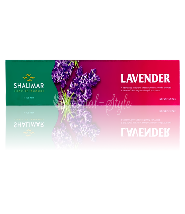 Shalimar Premium Räucherstäbchen Lavender mit Lavendelduft (20g)
