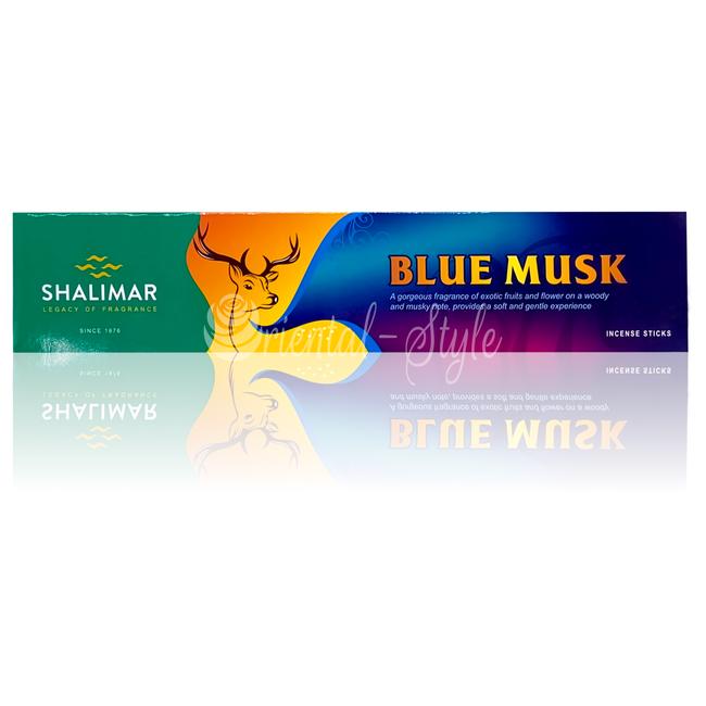 Shalimar Premium Räucherstäbchen Blue Musk (20g)