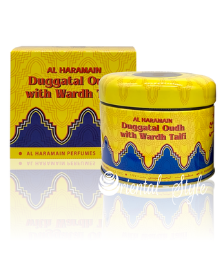 Al Haramain Bakhoor Duggatal Oudh With Wardh Taifi (50g)