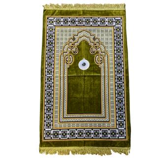 Prayer Mat with Compass - Moss Green