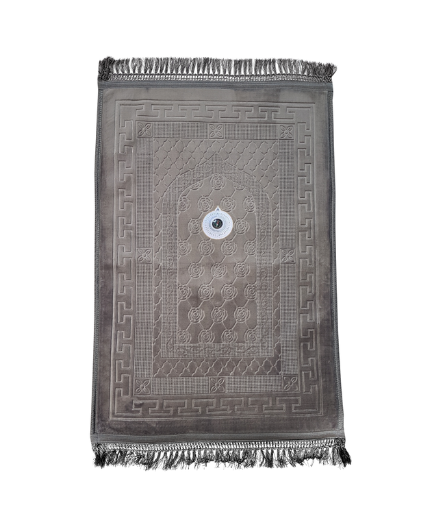 Gebetsteppich - Seccade Gepolstert Mit Kompass - Grau