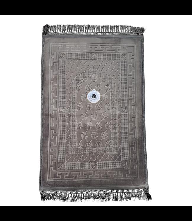 Gebetsteppich Seccade Gepolstert Kompass - Grau