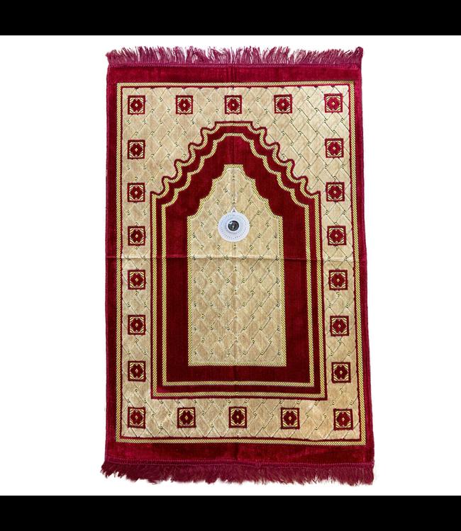 Prayer Mat with Compass - Red