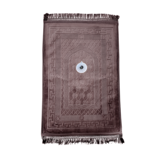 Prayer Mat Seccade Foam Padded Compass - Brown