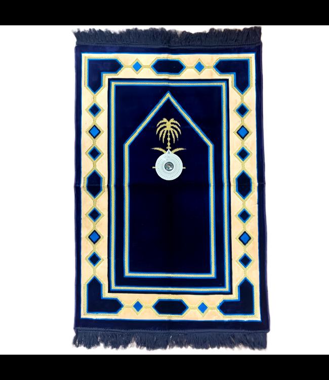 Gebetsteppich mit Kompass - Dunkelblau