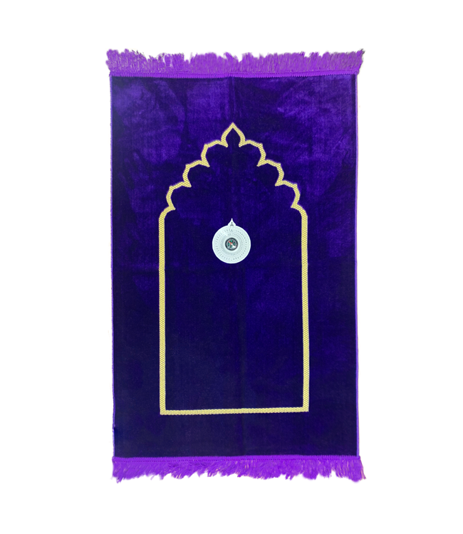 Prayer rug - Seccade With Compass In Purple