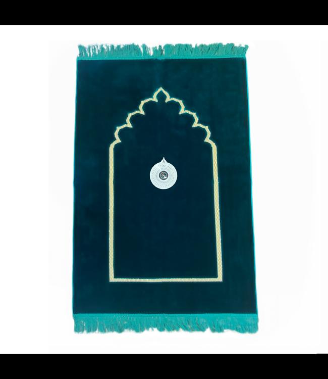 Prayer rug - Seccade With Compass In Dark Green