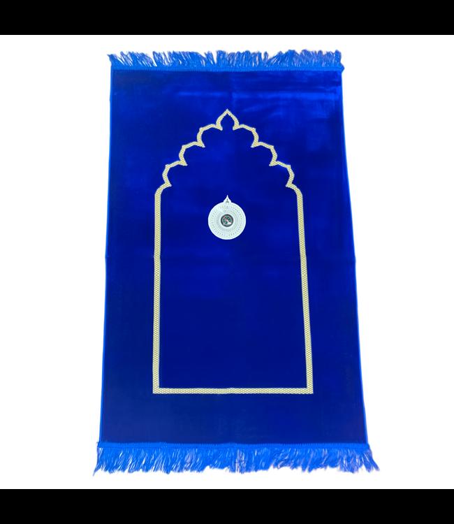 Gebetsteppich mit Kompass - Blau
