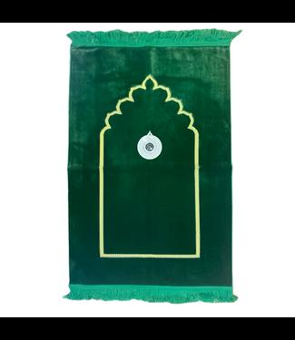 Prayer Mat with Compass - Green