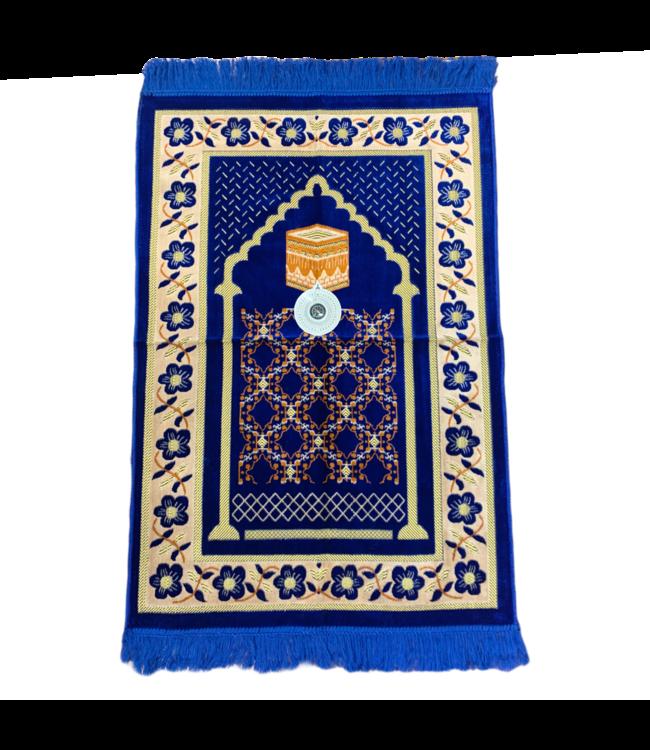 Prayer Mat with Compass - Blue