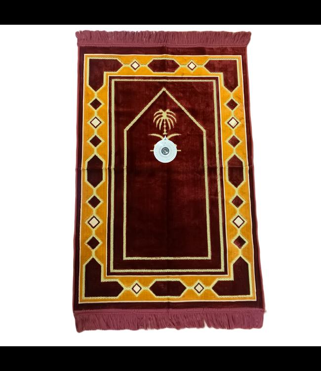 Gebetsteppich mit Kompass - Rot