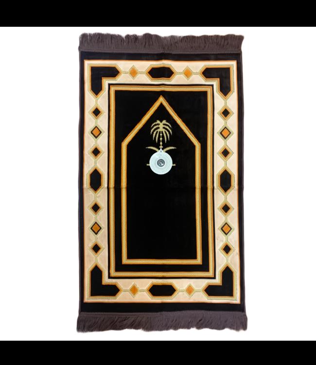 Gebetsteppich - Seccade in Braun mit Kompass