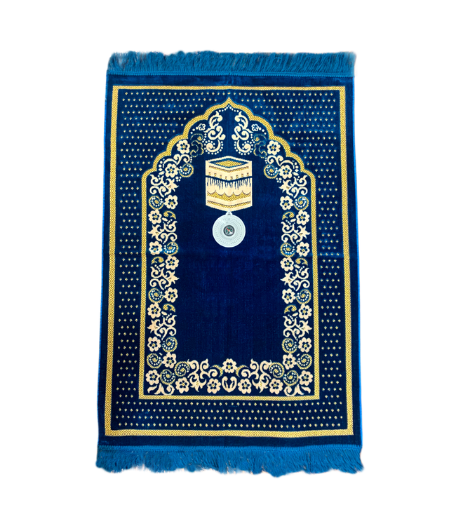 Prayer rug - Seccade With Compass In Blue