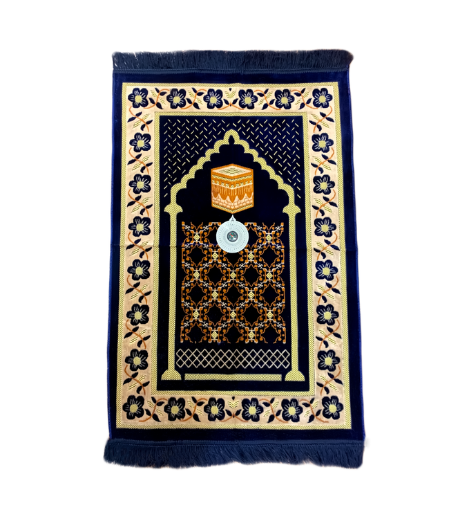 Prayer rug - Seccade With Compass In Dark Blue