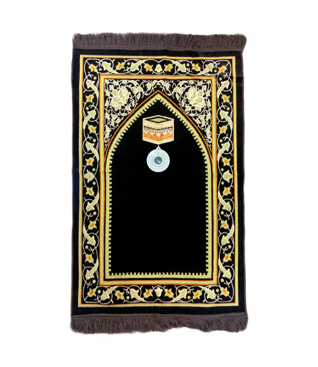 Prayer rug - Seccade With Compass In Brown