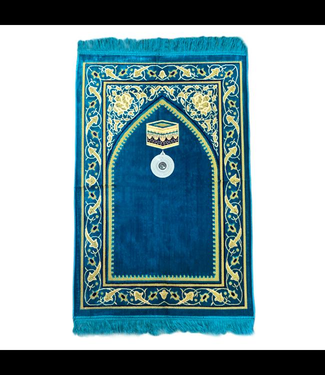 Gebetsteppich mit Kompass - Türkis