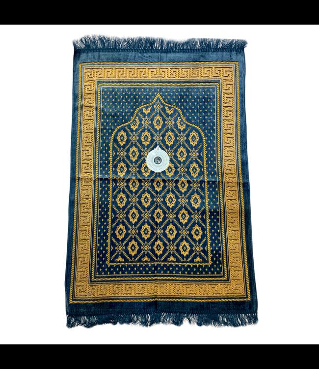 Gebetsteppich mit Kompass - Graublau